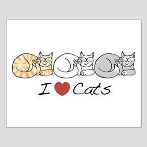 I Heart Cats Small Poster