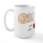 I Heart Cats Large Mug