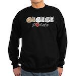 I Heart Cats Sweatshirt (dark)