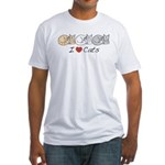 I Heart Cats Fitted T-Shirt
