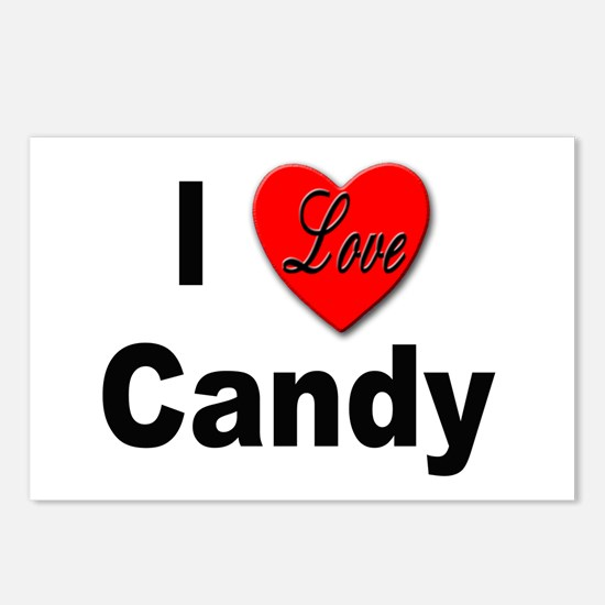 I Love Candy Postcards (Package of 8)