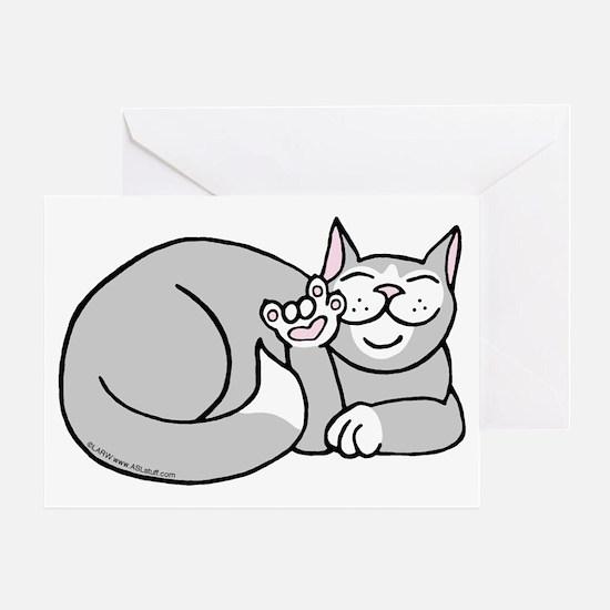 Tuxedo ASL Kitty Greeting Card