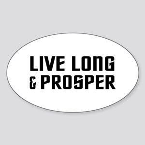Live Long Sticker (Oval)