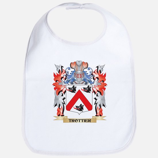 Trottier Coat of Arms - Family Crest Baby Bib
