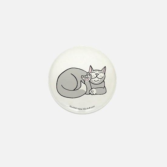 Tuxedo ASL Kitty Mini Button