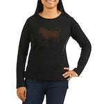 Niu Nian Women's Long Sleeve Dark T-Shirt