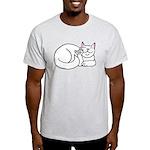 White ASL Kitty Light T-Shirt