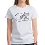 White ASL Kitty Women's T-Shirt