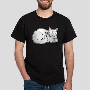 White ASL Kitty Dark T-Shirt