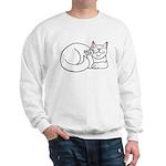 White ASL Kitty Sweatshirt