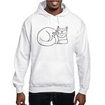 White ASL Kitty Hooded Sweatshirt