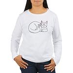 White ASL Kitty Women's Long Sleeve T-Shirt