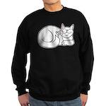 White ASL Kitty Sweatshirt (dark)