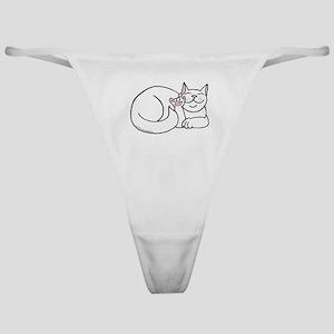 White ASL Kitty Classic Thong
