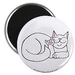 White ASL Kitty Magnet