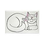 White ASL Kitty Rectangle Magnet (10 pack)