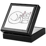 White ASL Kitty Keepsake Box