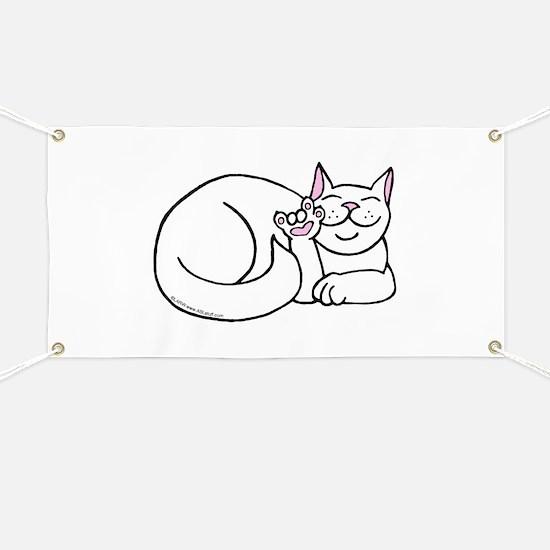 White ASL Kitty Banner