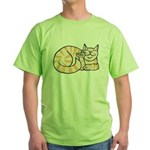 OrangeTabby ASL Kitty Green T-Shirt