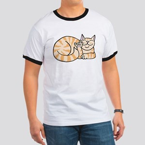 OrangeTabby ASL Kitty Ringer T