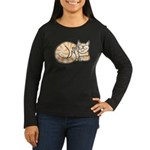 OrangeTabby ASL Kitty Women's Long Sleeve Dark T-S