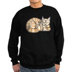 OrangeTabby ASL Kitty Sweatshirt (dark)
