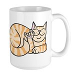 OrangeTabby ASL Kitty Large Mug