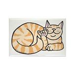 OrangeTabby ASL Kitty Rectangle Magnet