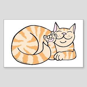 OrangeTabby ASL Kitty Rectangle Sticker