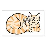 OrangeTabby ASL Kitty Rectangle Sticker 10 pk)