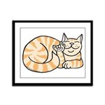 OrangeTabby ASL Kitty Framed Panel Print