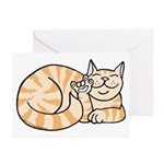 OrangeTabby ASL Kitty Greeting Cards (Pk of 20)