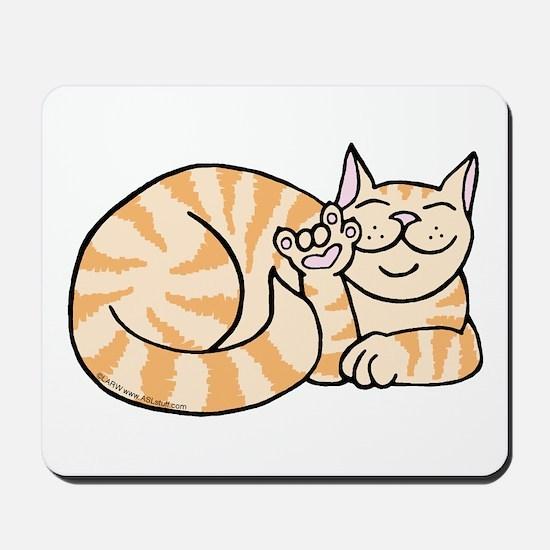 OrangeTabby ASL Kitty Mousepad