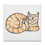 OrangeTabby ASL Kitty Tile Coaster