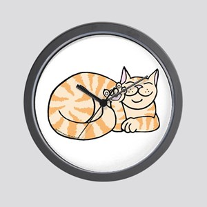 OrangeTabby ASL Kitty Wall Clock