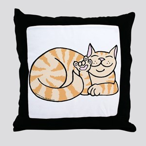 OrangeTabby ASL Kitty Throw Pillow