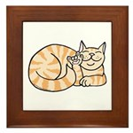 OrangeTabby ASL Kitty Framed Tile