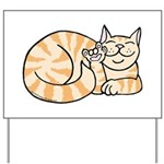 OrangeTabby ASL Kitty Yard Sign
