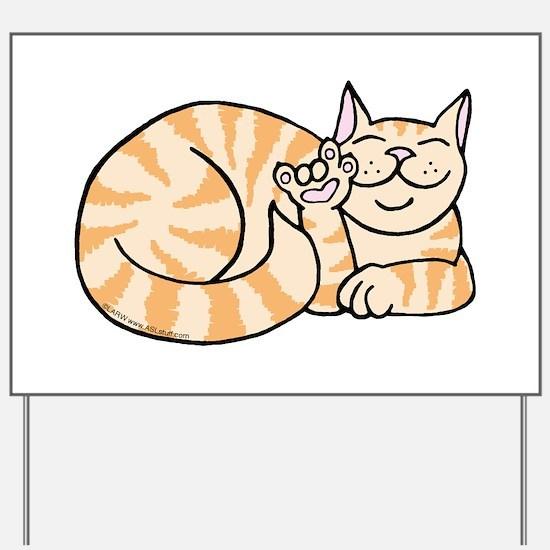 OrangeTabby ASL Kitty Yard Sign