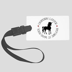 Unicorn Lover Large Luggage Tag