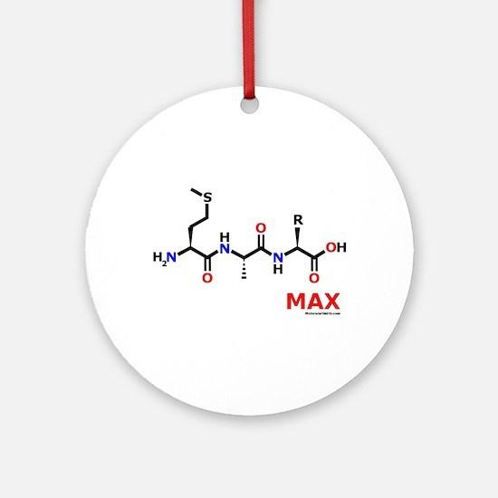 Max name molecule Ornament (Round)