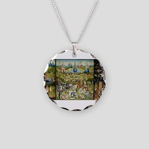 Hieronymus Bosch Garden Of E Necklace Circle Charm