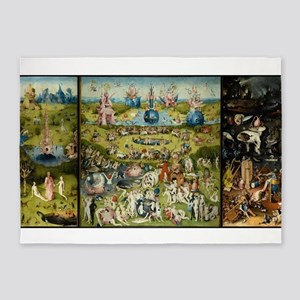 Hieronymus Bosch Garden Of Earthly 5'x7'Area Rug