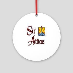 Sir Atticus Ornament (Round)