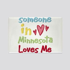 Someone in Minnesota Loves Me Rectangle Magnet