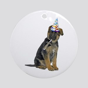 German Shepherd Party Ornament (Round)