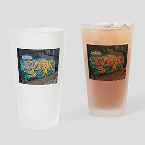 Graffiti Art Drinking Glass