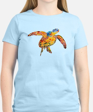 Sea Turtle Women's Pink T-Shirt