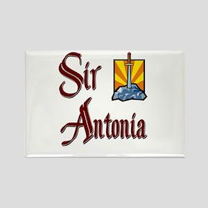 Sir Antonia Rectangle Magnet