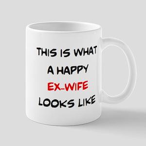 happy ex-wife 11 oz Ceramic Mug